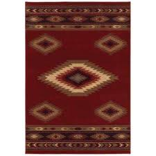 aztec red 5 ft x 8 ft area rug