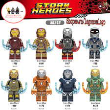 Minifigure lego Marvel siêu anh hùng người sắt Iron Man MK6 MK22 MK36 MK37  MK38 MK40 MK41 MK42 X0246