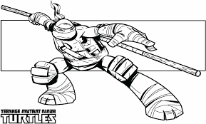Teenage Mutant Ninja Turtles Coloring Pages Free Ninja Turtle