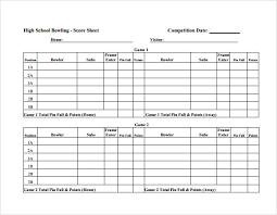 Free 11 Sample Bowling Score Sheets In Google Docs Google