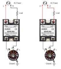 40a solid state voltage regulator high power scr ssvr ssvr40a output voltage increases when the dial is turned clockwise