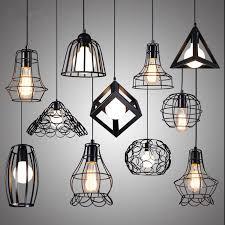 warehouse style lighting. Retro Indoor Lighting Vintage Pendant Light LED Lights 24 Kinds Iron Cage Lampshade Warehouse Style 8