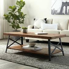 rustic modern coffee table decor reclaimed wood chunky round for at master