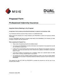 We offer insurance by phone, online and through independent agents. Fillable Online Dual Asia Msig Pi Proposal Form 0509doc Fax Email Print Pdffiller