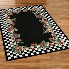 Rooster Area Rugs Kitchen Kitchen Cool Monochromatic Black Kitchen Area Rugs Using Chess