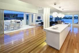 beautiful white themed kitchen dining decor modern style laminate best flooring for in kerala