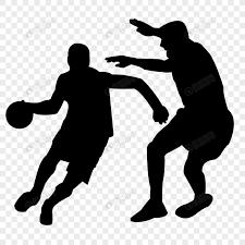 バスケットボール選手のシルエット無料バックル素材イメージ