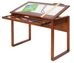 Studio Designs Ponderosa Glass Topped Craft Table