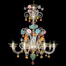 tripudio 8 lights murano glass chandelier