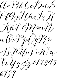 best 25 calligraphy fonts alphabet ideas