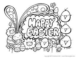 Happy Easter Egg Coloring Pages For Adults Religious Page Printable