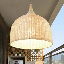 Popahome Leuchter Lndlicher Rattan Bambus Handgemachter
