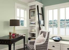 office wall colors ideas. Home Office Wall Color Ideas Beautiful Green Paint Theme Benjamin Moore Interior Colors With White Windows Frame And Cabinet