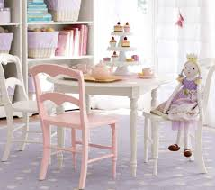 ... Pink And White Rectangle Rustic Wooden Pottery Barn Kids Chair Ideas  With Table Or ...