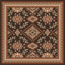 southwest rugs  ft square teton lodge ruglone star western decor