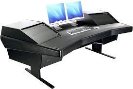 bestar hampton corner workstation fancy black glass desk antiqued l shaped with included hutch brown homepro