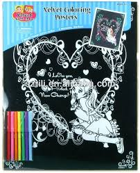 Felt Posters Black Coloring Pages Velvet Colouring Drwu