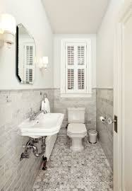 Small powder room design Dark Ultranarrow Powder Room Relies On Monochromatic Look For Spacious Visual Appeal Decoist Timeless Affair 15 Exquisite Victorianstyle Powder Rooms