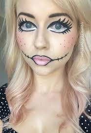 cool scary rag doll makeup with rag doll makeup