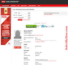 Fake Name - Cafenews Generator info