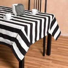 black and white polka dot plastic round tablecloth stripes rectangular cotton x in b