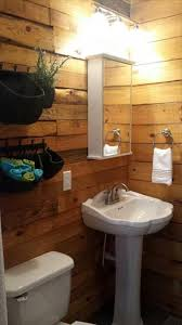 DIY Pallet Bathroom Wall Paneling - 101 Pallet Ideas