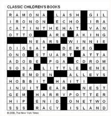 crossword solution clic children s books