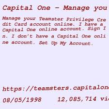 You must be a union plus credit card or teamster privilege credit card cardholder in good standing. Mastercard Capital One Credit Card Login Login Page