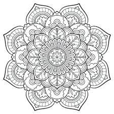 Flower Mandala Coloring Page Free Printable Coloring Pages Coloring
