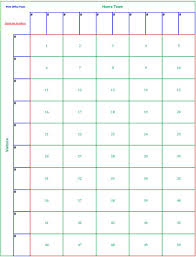 Printable 50 Square Football Pool Sheet Super Bowl Block Pool Template.