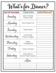 Weekly Menu Plan #3 - I Heart Nap Time