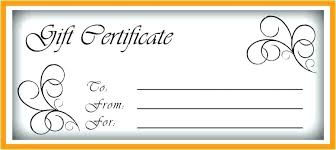 Money Gift Card Template Blank Gift Certificate Template