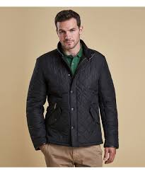Men's Barbour Powell Quilted Jacket & Mens Barbour Powell Quilted Jacket - Black Adamdwight.com