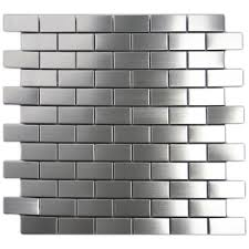 Stainless Steel Backsplash Kitchen Stainless Steel Backsplash Subway Tile Outlet