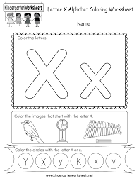 Coloring book zoo sign with animals. Letter X Coloring Worksheet Free Kindergarten English Worksheet For Kids