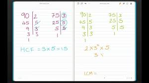 Finding The Hcf And Lcm Of Two Numbers By Hand