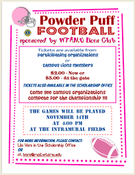 powder puff football flyers wtamu lions club powder puff football 2009 florenceyapto