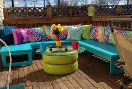 diy patio colorful seating width