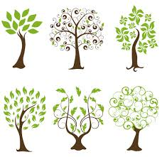 Tree Design Abstract Tree Design Vector Set 02 Free Download