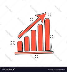 Chart Cartoon Cartoon Business Graph Icon In Comic Style Chart