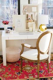 how to style a west elm parsons desk white lacquer pink