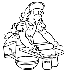 Small Picture Free Kitchen Coloring Pages