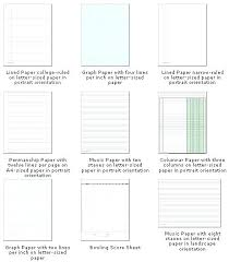 Elementary Ruled Paper Wide Ruled Paper Template Mead Notebook Paper Template College Ruled