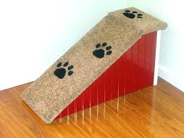 wood dog stairs for bed carpeted pet 3 gallery with storage image of ramp design wooden