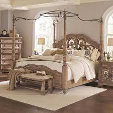 Ilana California King Canopy Bed with Mirror Back Headboard by Coaster at A1 Furniture & Mattress