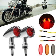 Bullet Led Lights Chrome Motorcycle Bullet Led Turn Signal Red Lights
