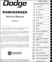 1974 dodge ramcharger repair shop manual original this manual covers all 1974 dodge ramcharger models including aw100 pw100 if you have a 1975 or 1976 ramcharger you ll need this book plus the 1975