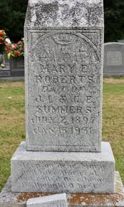 Mary E Summers Roberts (1897-1931) - Find A Grave Memorial