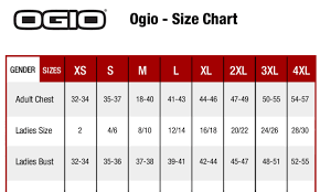 Ogio Size Chart Ogio Endurance Pursuit 1 4 Zip