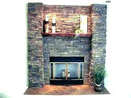 stacked stone fireplace ideas for installation veneer cost pictures stack